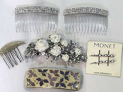 Vintage Lot Of Assorted Hair Clips Barrettes Pins 1 Monet, 1 Marked France • 9.99$