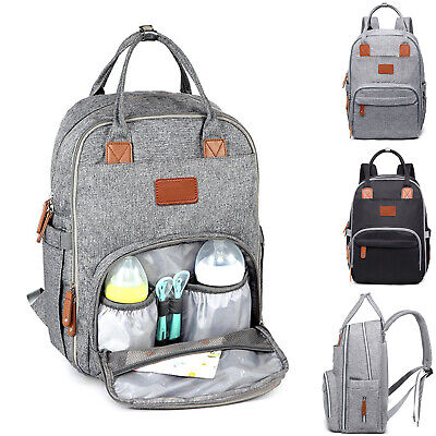 £14.95 • Buy Baby Diaper Nappy Changing Mummy Bag Large Rucksack Hospital Maternity Backpack