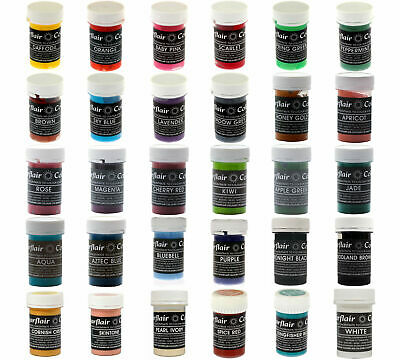 SUGARFLAIR CONCENTRATED FOOD COLOURING PASTE GEL 50COLOURS 25g! • 4.49£
