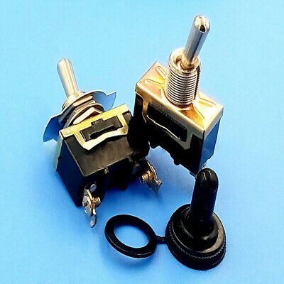 $ CDN1.74 • Buy 1Set Heavy Duty 12V ON/OFF Small SPST Toggle Switch Miniature + Waterproof Cover