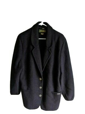 $21.95 • Buy Vintage Wool Geiger Jacket Blazer  Navy Blue Size 42 Made In Austria