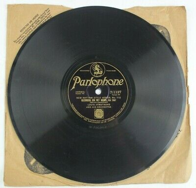 Georgia On My Mind / Lazy River Louis Armstrong Parlophone 78 RPM • 37.77$