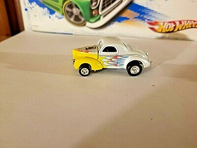 Hot Wheels Real Riders  Willys Gasser  Silver / Yellow • 2.25$
