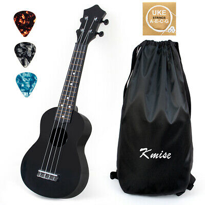 AU32.99 • Buy Soprano Ukulele Christmas Toy For Kids 21 Inch Black Uke With Bag Picks String