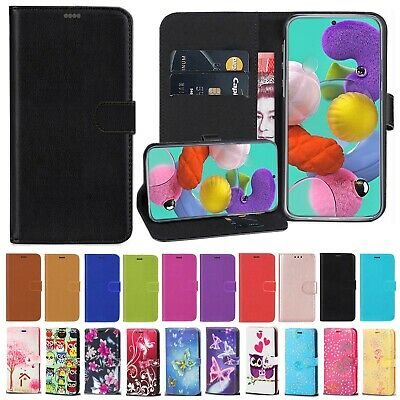 For Samsung A10 A40 A50 A20e A70 Phone Case Real Leather Flip Wallet Book Cover • 3.49£
