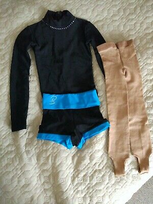 Ice Skating Costume 4-6 Yrs | Leotard, Shorts And Tights • 33£