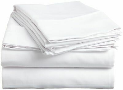 400 TC Home Super Soft White Solid 100% Egyptian Cotton All UK Bedding Items • 71.99£