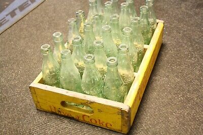 Vintage Coca Cola Wooden Crate With Bottles 1940s / 1950s Americana Pepsi Coke • 120£