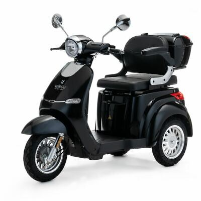 £1590 • Buy 3 Wheeled ELECTRIC MOBILITY SCOOTER 1000W VELECO CRISTAL BLACK