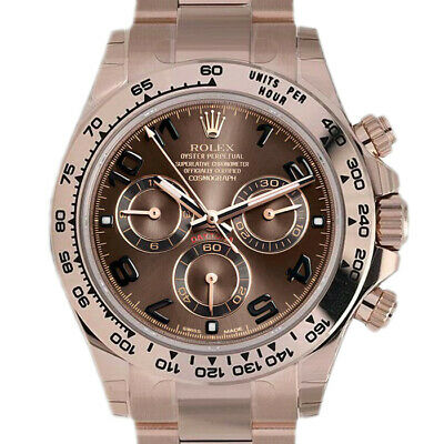 $ CDN55251.58 • Buy Rolex Daytona 116505 Men's Rose Gold Automatic Chocolate 1 Year Warranty