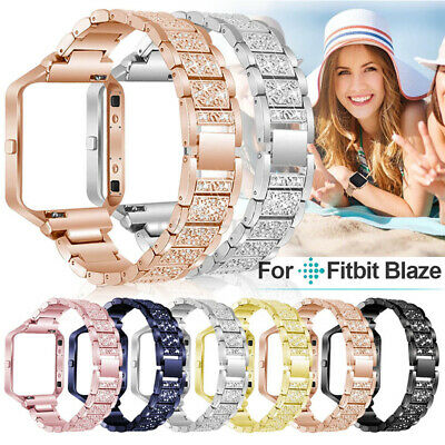 AU15.99 • Buy Rhinestone Blink Bracelet Band Strap Stainless Steel With Frame For Fitbit Blaze