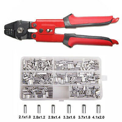 AU42.48 • Buy Fishing Crimping Tool Crimp Pliers Wire Leader Swager With Crimping Sleeves Kit