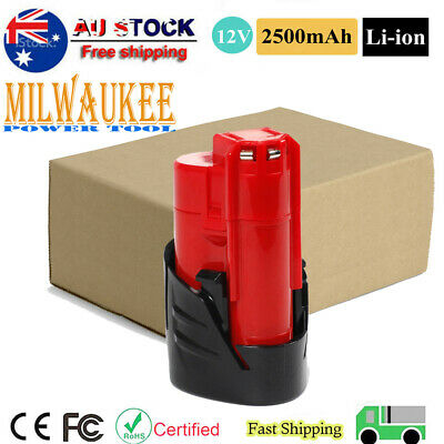 AU12.99 • Buy 12V Li-Ion Battery For Milwaukee M12 M12B 48-11-2401 48-11-2440 C12 BX 2500mAh