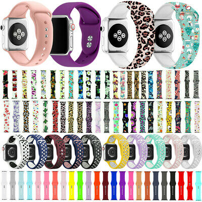 $ CDN8.45 • Buy Silicone Band Strap For Apple Watch For IWatch Series 5/4/3/2/1 44/42mm 40/38mm