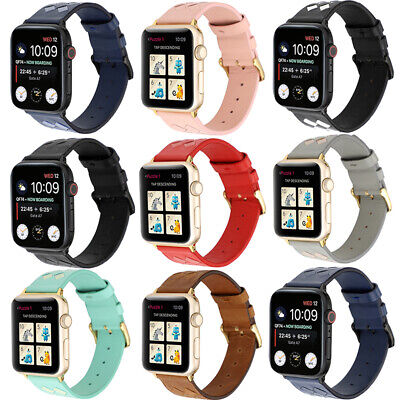 AU17.99 • Buy Genuine Leather Wrist Strap Apple Watch Band Series SE 6 5 4 3 2 1 38/42/40/44mm