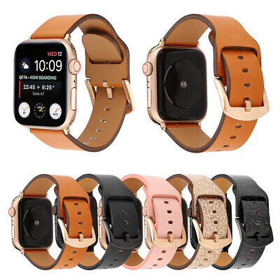 AU17.89 • Buy Leather Apple Watch Band For IWatch 38/40/42/44mm For IWatch Series SE 6 5 4 3 2
