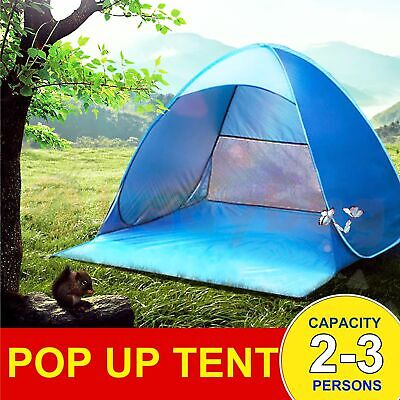 AU34.77 • Buy Pop Up Portable Beach Canopy Sun Shade Shelter Outdoor Camping Fishing Tent Mesh