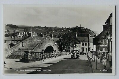 The Two Bridges, Pontypridd, Wales, Rp Unposted W4660 Postcard VGC • 2.95£