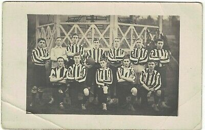 Social Vintage Real Photograph Postcard Unknown Football Team  • 2.75£