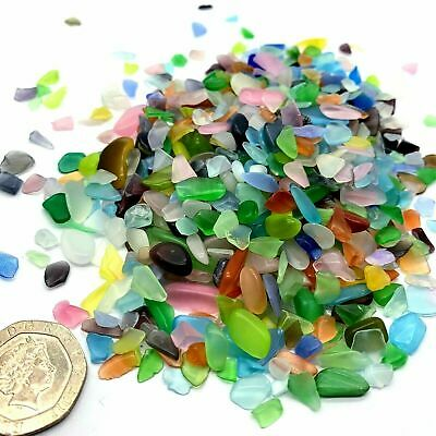 £4.95 • Buy 50 100 200 Sea Beach Glass Beads 3-10mm Mixed Color Blue Purple Jewelry Pendant