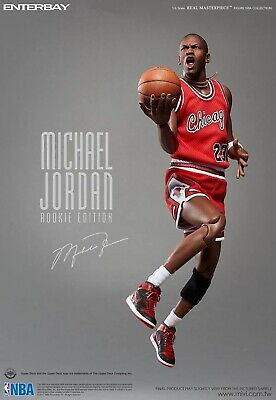 $2200 • Buy Enterbay NBA Michael Jordan Rookie Real Masterpiece 1/6 Chicago Bulls Figure NEW
