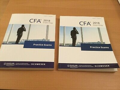 £39.99 • Buy CFA Level 3 Kaplan Practise Exam Books 1 And 2 For Revision