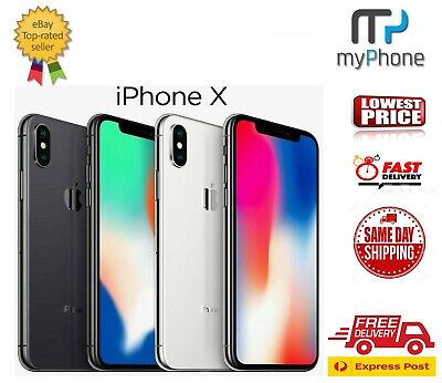 AU665 • Buy Apple IPhone X 10 [ 64GB/256GB ] Space Grey/Silver Unlocked [AU Stock] A1865