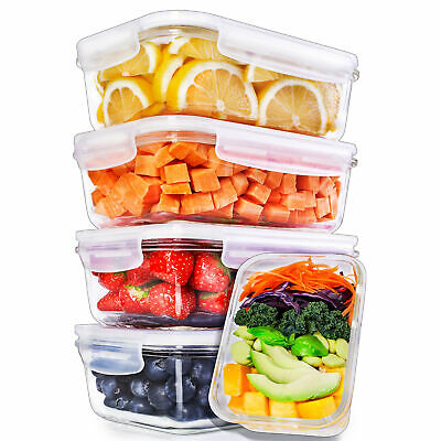 £23.95 • Buy Igluu Glass Meal Prep Containers + Air Vent & Extra Lid [5 Pc] Food Storage Box