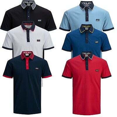 £19.99 • Buy Jack & Jones Authentic Polo T-shirt For Mens Short Sleeve Cotton Tee 7174
