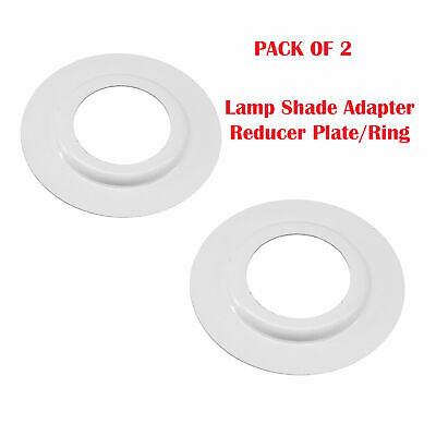 2 X Lamp Shade Adapter Reducer Plate / Washer / Ring Made From Metal ES To BC • 2.25£