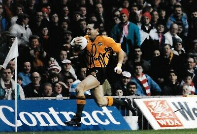 David Campese Australia Running With Rugby Ball Against Wales Signed 12x8 Photo • 59.99£