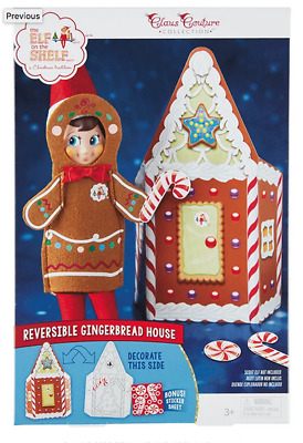 AU21.38 • Buy Elf On The Shelf Jolly Gingerbread Activity Set Claus Couture NEW NIB 3pc