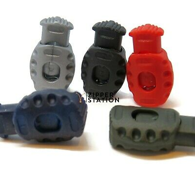 Single Hole Cord Stopper Lock Toggle Laces Stop End , Grenade Shape In 5 Colours • 1.75£