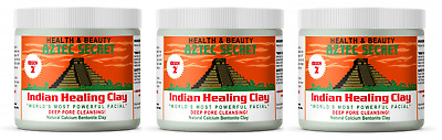 AU32.88 • Buy Aztec Secret Indian Healing Clay Deep Pore Cleansing Facial Mask - 1 LB (3 Pack)