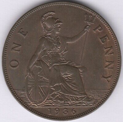 £10.20 • Buy 1936 George V One Penny   British Coins   Pennies2Pounds