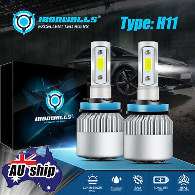 AU23.29 • Buy 2X H11 H9 H8 LED Headlight Kit High/Low Beam Bulbs 8000LM 72W 6000K Xenon White