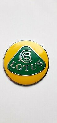 $ CDN27.50 • Buy Lotus Aluminum Overlay Nose Badge Emblem Hood Bonnet Yellow/gr Elise Exige Evora