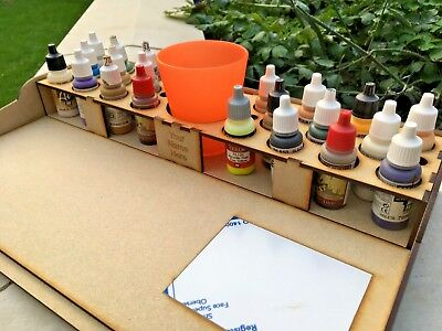 HobbyBench And Paint Storage Rack 22 Pots Vallejo Warpaint RIGHT HAND  • 10.50£