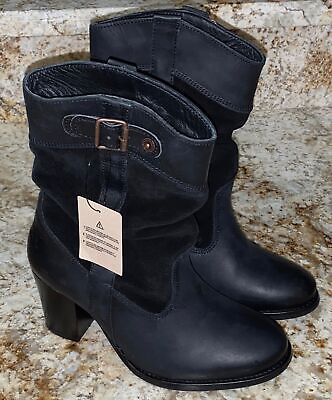 £66.28 • Buy LEVIS Sancho Black Low Slouch Cowboy Boots Booties NEW Womens Sz 5