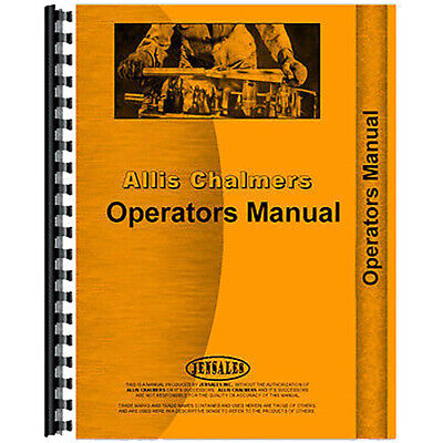 AU112.58 • Buy Aftermarket Implements Operator's Manual For Allis Chalmers G Tractors