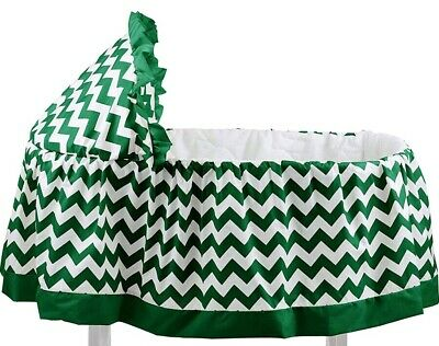 $44.95 • Buy ABaby Chevron Short Bassinet Skirt, Green, Small - New - With Hood