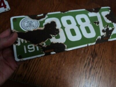 $ CDN94.97 • Buy Vintage 1913 State Of Michigan Porcelain License Plate