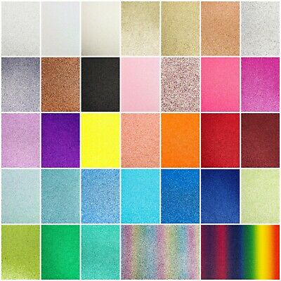 £4.75 • Buy A4 Glitter Card Coloured Premium Quality Low Non Shed 250gsm Crafts Mixed