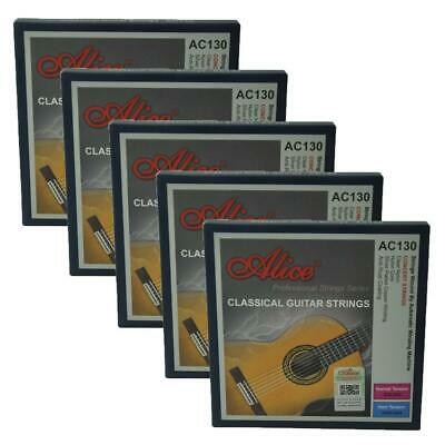 $ CDN34.81 • Buy 5Sets Alice Classical Guitar Strings Normal Tension Silver Plated Winding AC130N