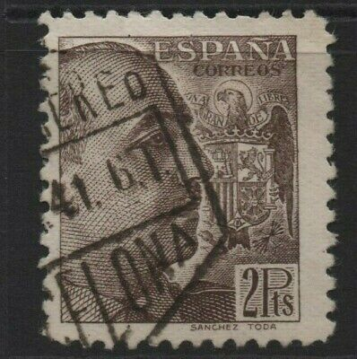 Spain Stamps 1939 General Franco 2Pts  SG 957   Fine Used • 2£