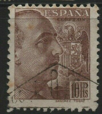 Spain Stamps 1939 General Franco 10Pts  SG 959  Fine Used • 20£