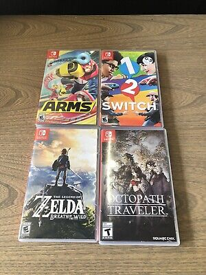 $24.99 • Buy Empty Nintendo Switch Cases Only Lot Of 4 Zelda Octopath Arms No Games