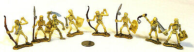 $5 • Buy Lot Of 8 Toy Major TOMB WARRIORS SKELETON SOLDIERS 2  Tall Plastic Figures Toys