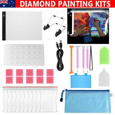 AU23.95 • Buy A4 LED Pad Light Board W/ USB Cable+5D Diamond Painting Tools DIY Accessories