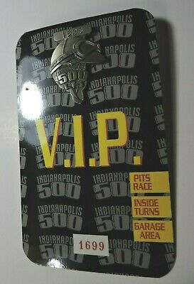 $39 • Buy Indy 500 Silver Pit Badge 1999 VIP Back Up Card